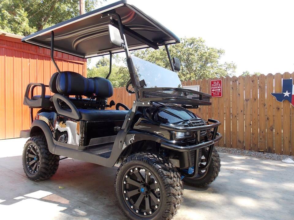 Black  U0026 Blue Phantom Xt Club Car Precedent 48v Electric