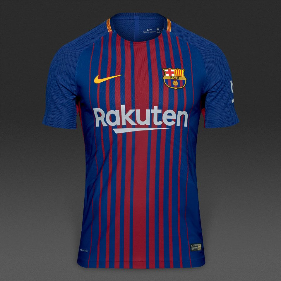 Nike FC Barcelona 17/18 Home SS Vapor Match Shirt - Deep Royal Blue/University  Gold