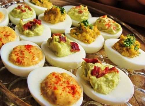 How to make devilled eggs canap s ecanap s devilled eggs for How to make canape