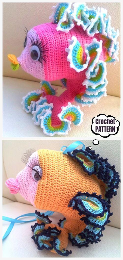 Crochet Goldfish Amigurumi Free Patterns #crochetanimals