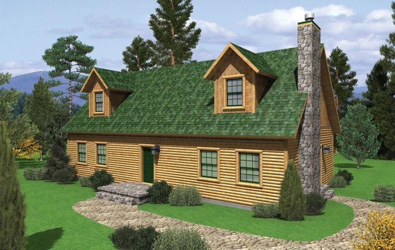 All American Homes brook view (plan a) floorplan of all american rustic collection