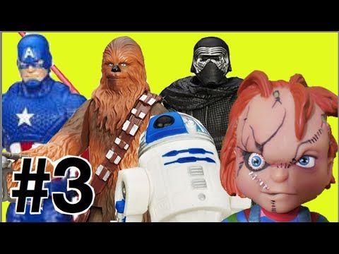 #3 Abrindo Star Wars Guerra nas Estrelas: Capitão América R2-D2 Chewbacc...