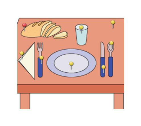 Vocabulario de la mesa CE ►  http://LearningApps.org/569478