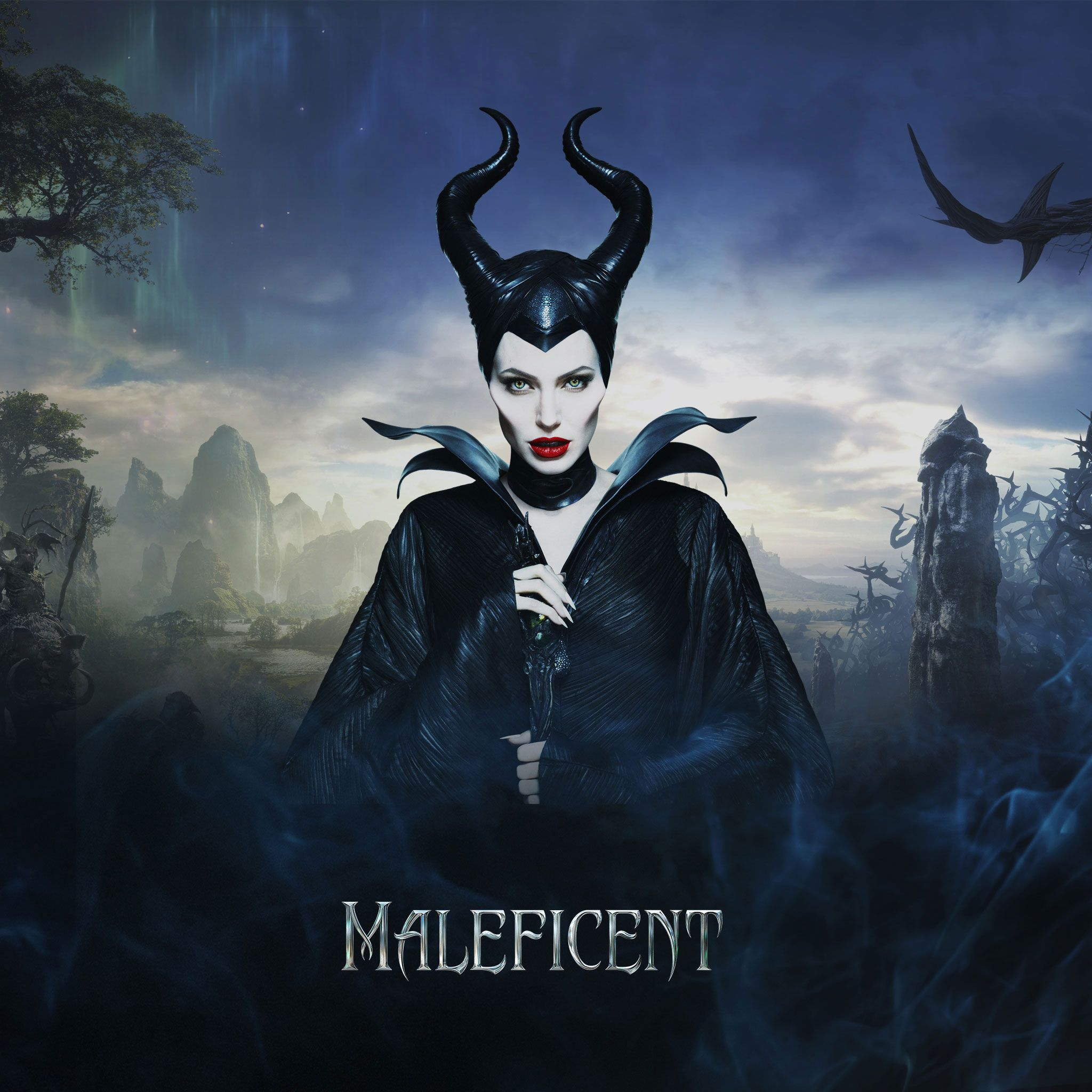 maleficent 2014 diaval maleficent ipad wallpaper Maleficent
