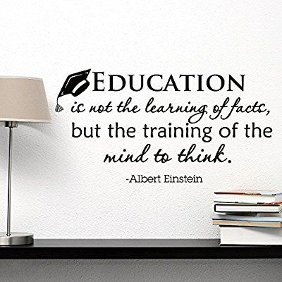 Quote About Education Amazon Wall Decal Albert Einstein Quote Education Is Not The .