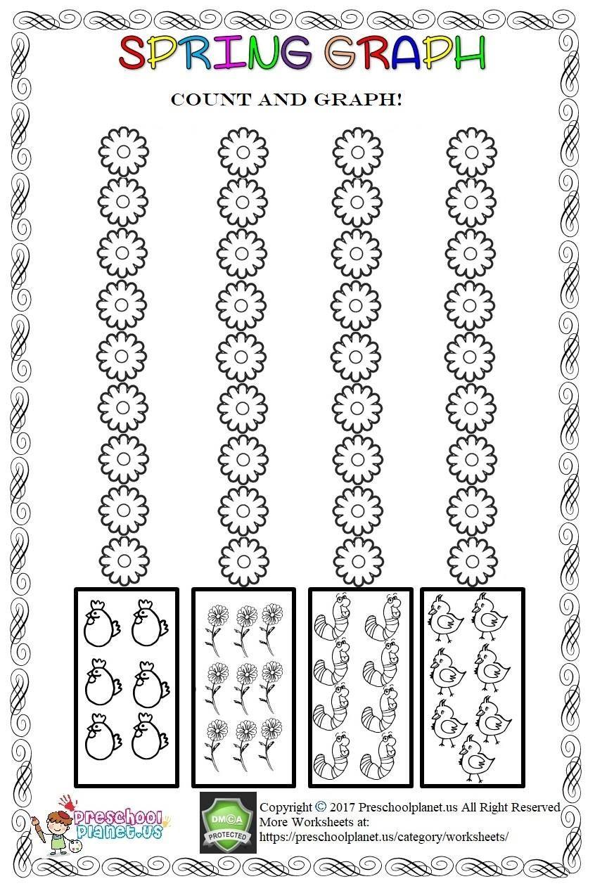 Spring Graph Worksheet Graphing Worksheets Worksheets For Kids [ 1260 x 846 Pixel ]