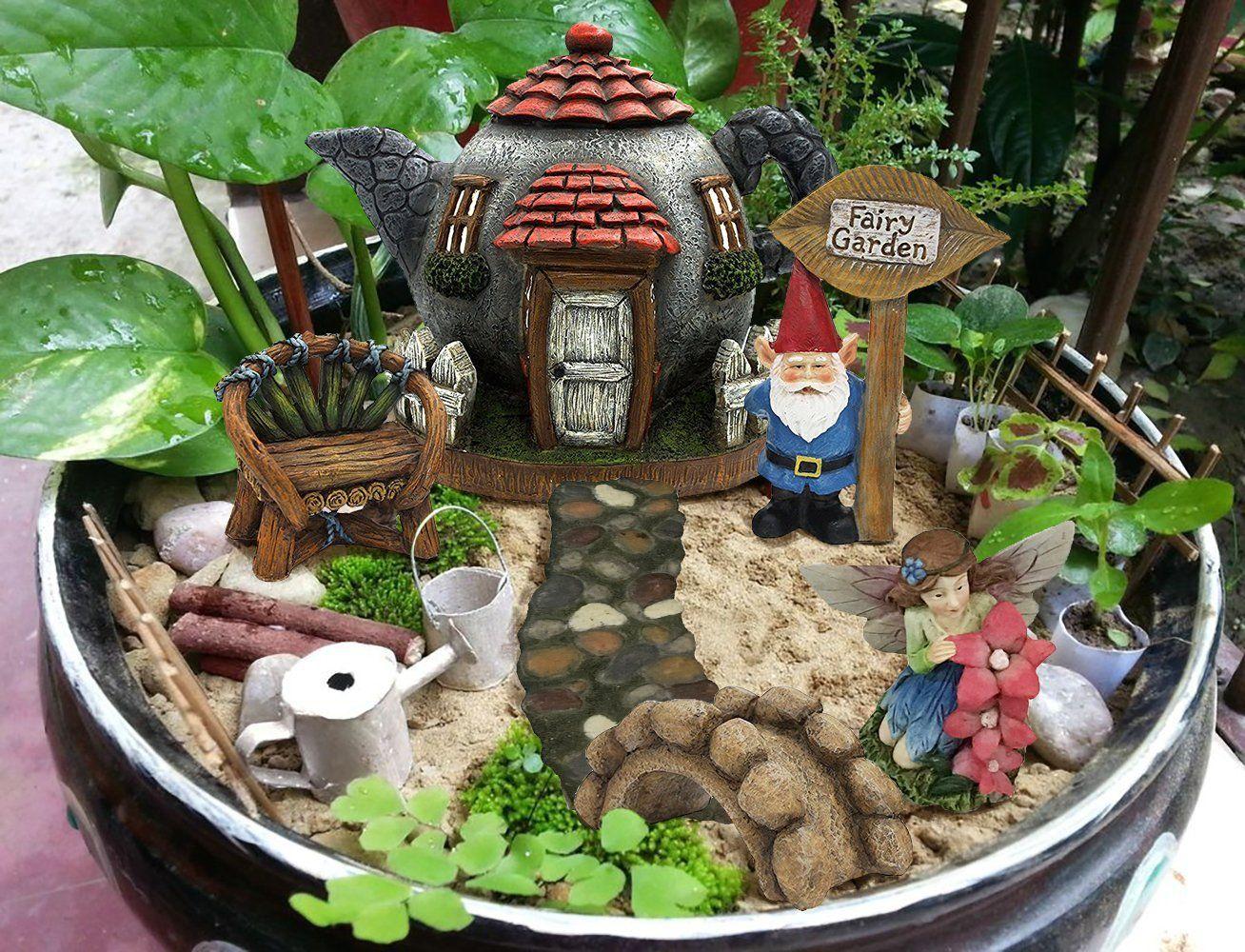 Fairy Garden Kit Gnome Village Fairy Garden Diy Fairy Garden Kit