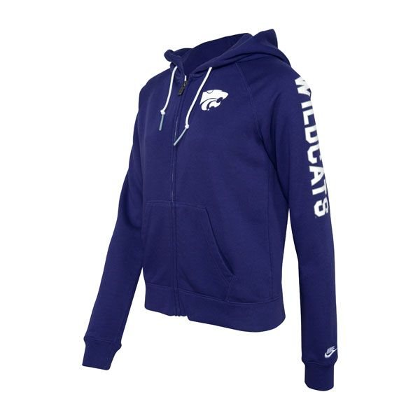 K-State Nike Full Zip Powercat and Wildcats Hoody - Women | K-State Super Store