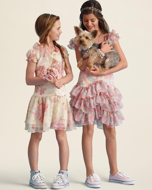 a9ca87c4180e Ralph Lauren Childrenswear Girls' Crinkle Chiffon Dress & Floral Chiffon  Dress - Sizes 7-16 | Bloomingdale's