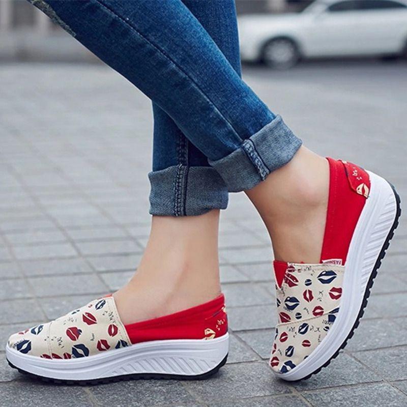 2017 Letnie Buty Nowe Plotno Mieszkania Kobiety Modne Obuwie Damskie Mokasyny Leniwy Gruba Skorupa B1865 Summer Shoes Casual Shoes Women Loafers For Women
