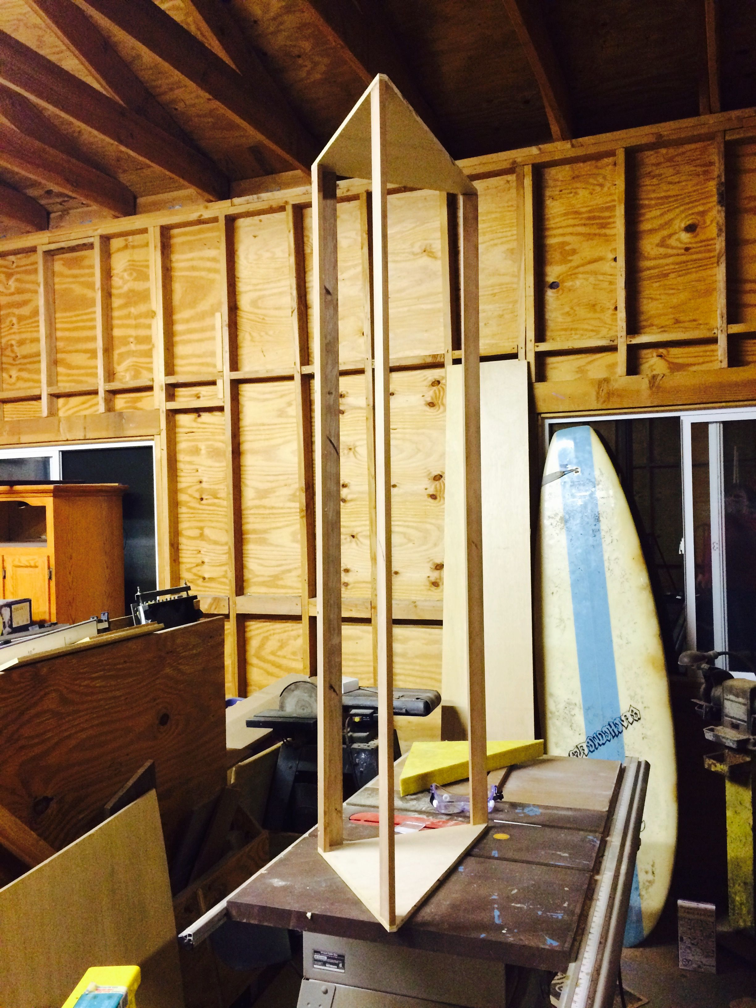 Constructing superchunk corner bass traps studio build