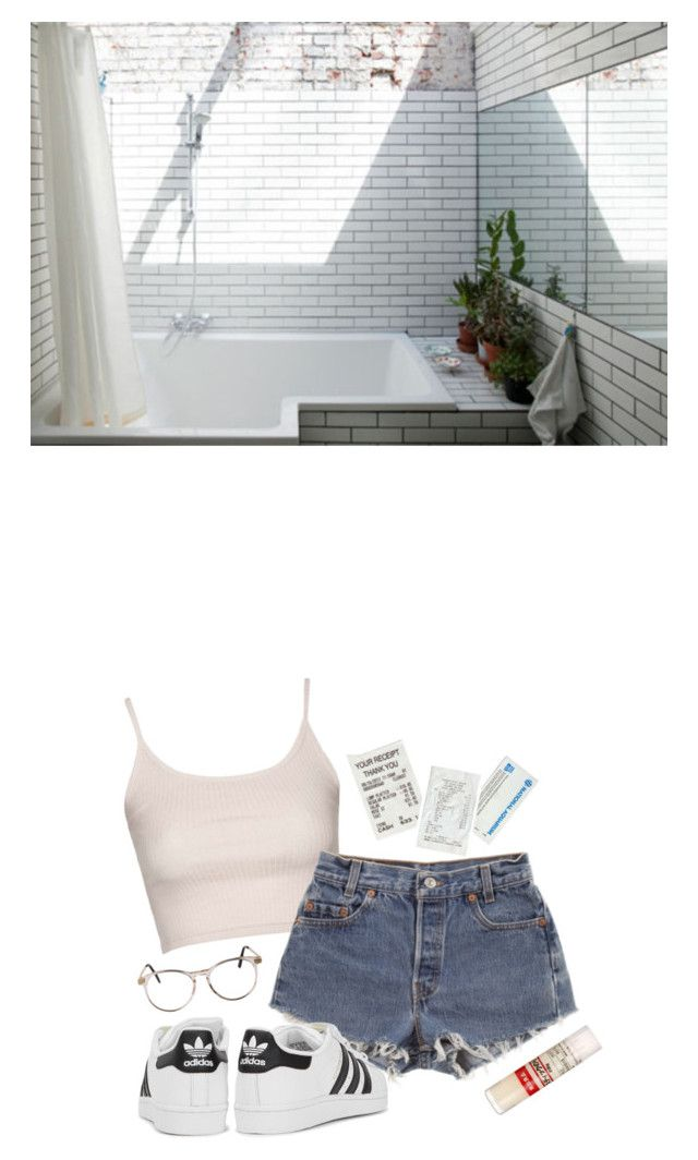 """""""•You are so pure that I am afraid to even look at you•"""" by katriinb ❤ liked on Polyvore featuring Design Fidelity, Topshop, Levi's, adidas Originals and Muji"""