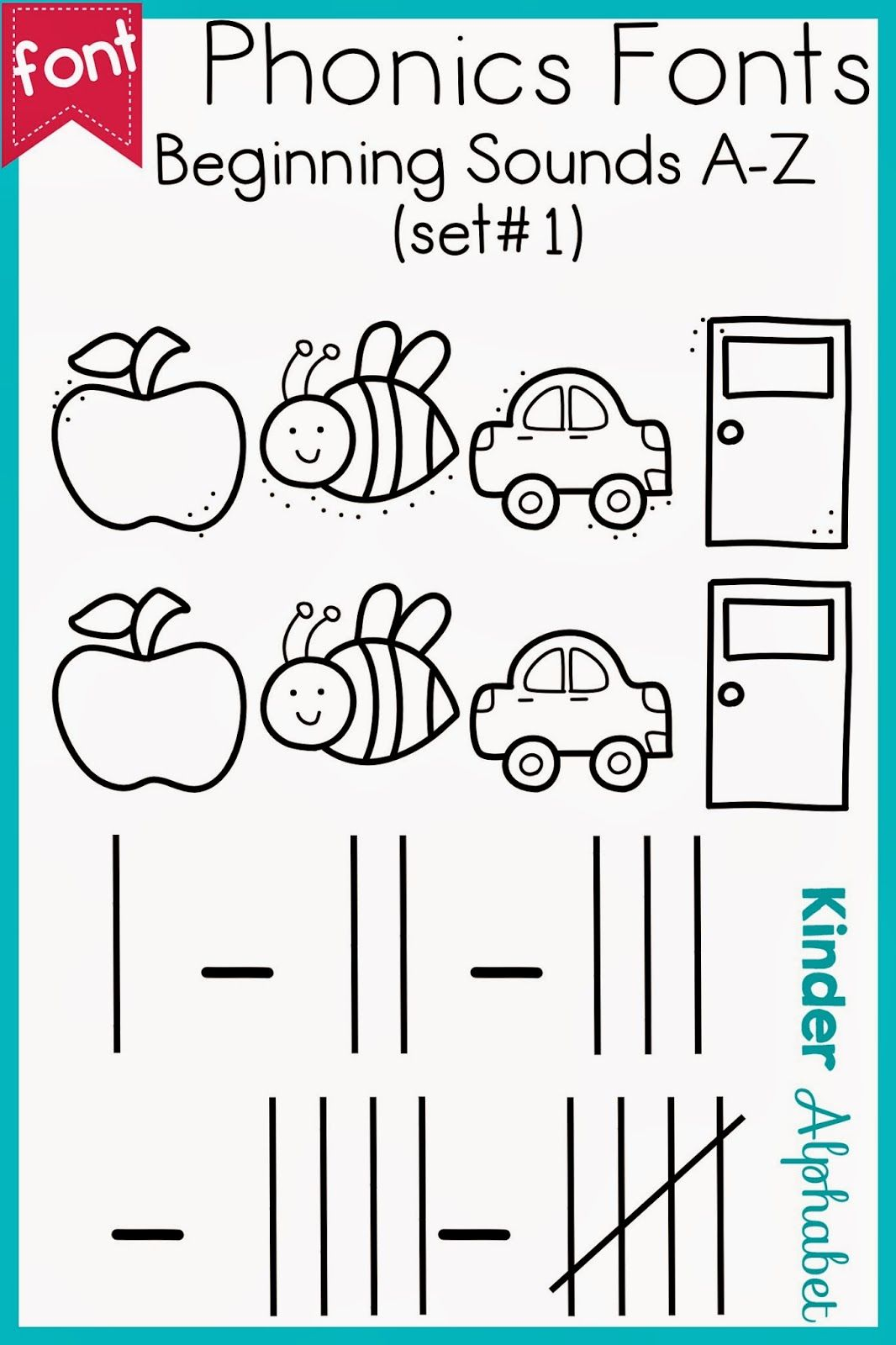 Phonics Fonts For Teachers Beginning Sounds And Tally