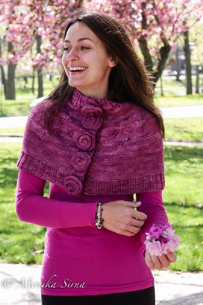 Kveta Capelet Knitting pattern by Monika Sirna | Knitting Patterns ...