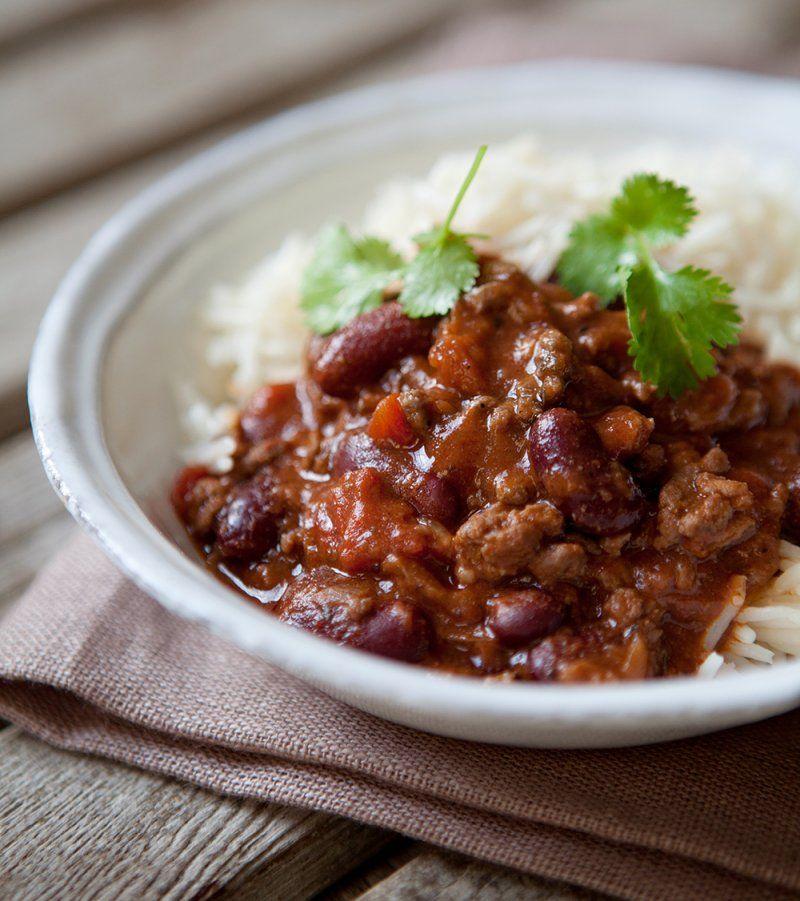 Quorn Chilli Con Carne >> Chilli con carne - The Hairy Bikers | Ricette, Cibo messicano, Chili con carne