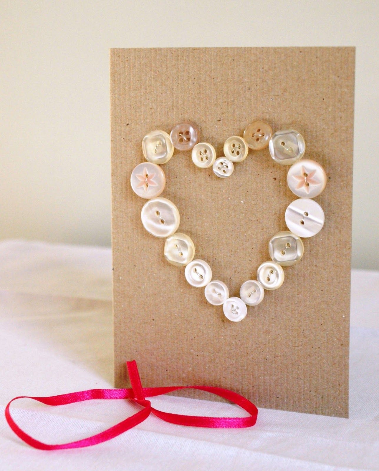 Image result for diy button heart valentine cards