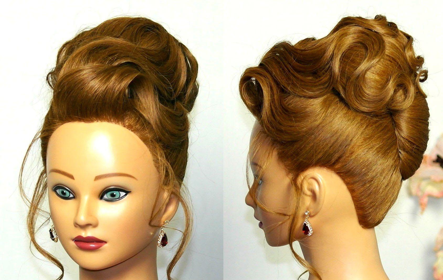 elegant updo. hairstyle for medium long hair. | hairstyles
