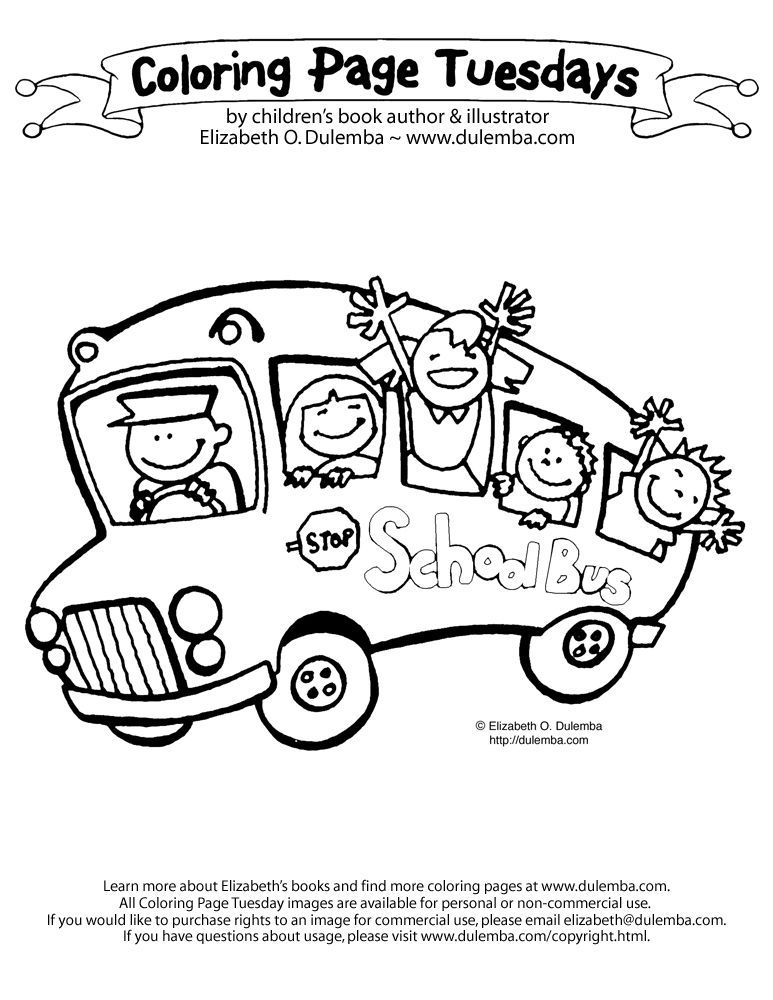 Dulemba Blogstuff ColoringPageTuesdays Schoolbus Big