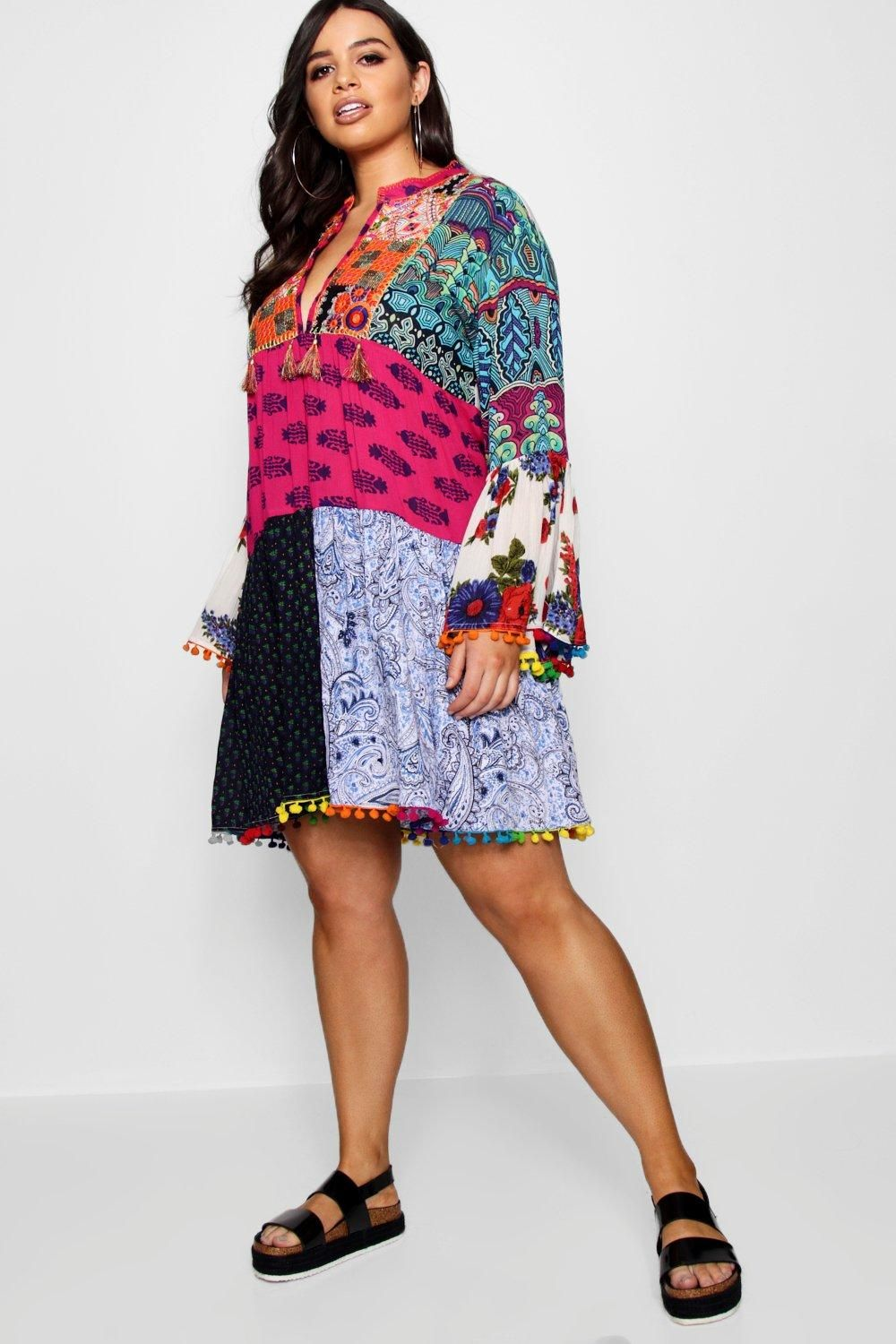 cd3396e99d6f Click here to find out about the Plus Ivy Embroidered Tassel Smock Dress  from Boohoo, part of our latest Plus Size & Curve Clothing collection ready  to shop ...