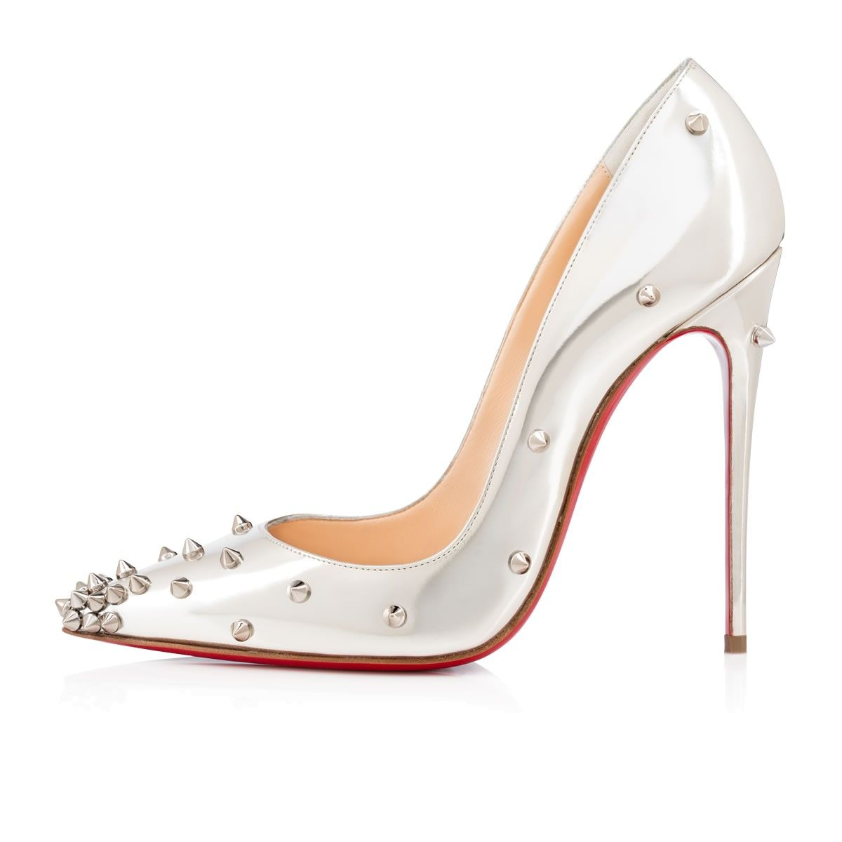 71d259ce2e4 Degraspike 120mm Beige Colombe Specchio. Shoes - Degraspike - Christian  Louboutin ...
