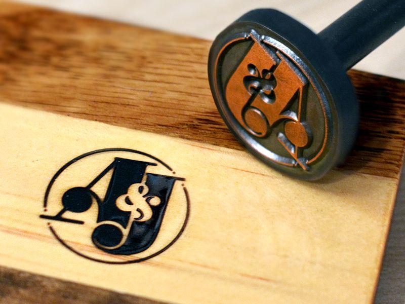 A J Branding Iron Branding Iron Wood Branding Iron Wood Branding