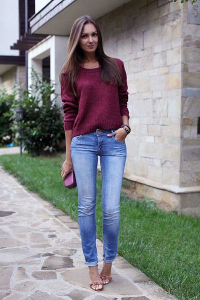 Light,blue,pull,bear,jeans,crimson,h,m,sweater,tawny