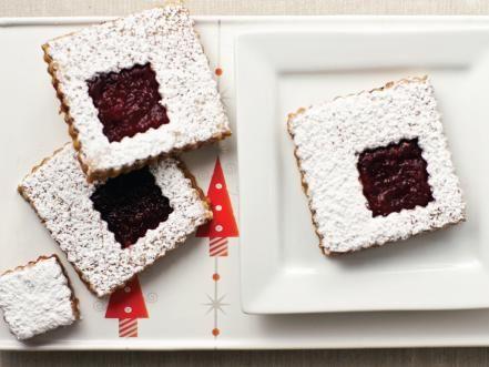 Cranberry Orange Linzer Cookies