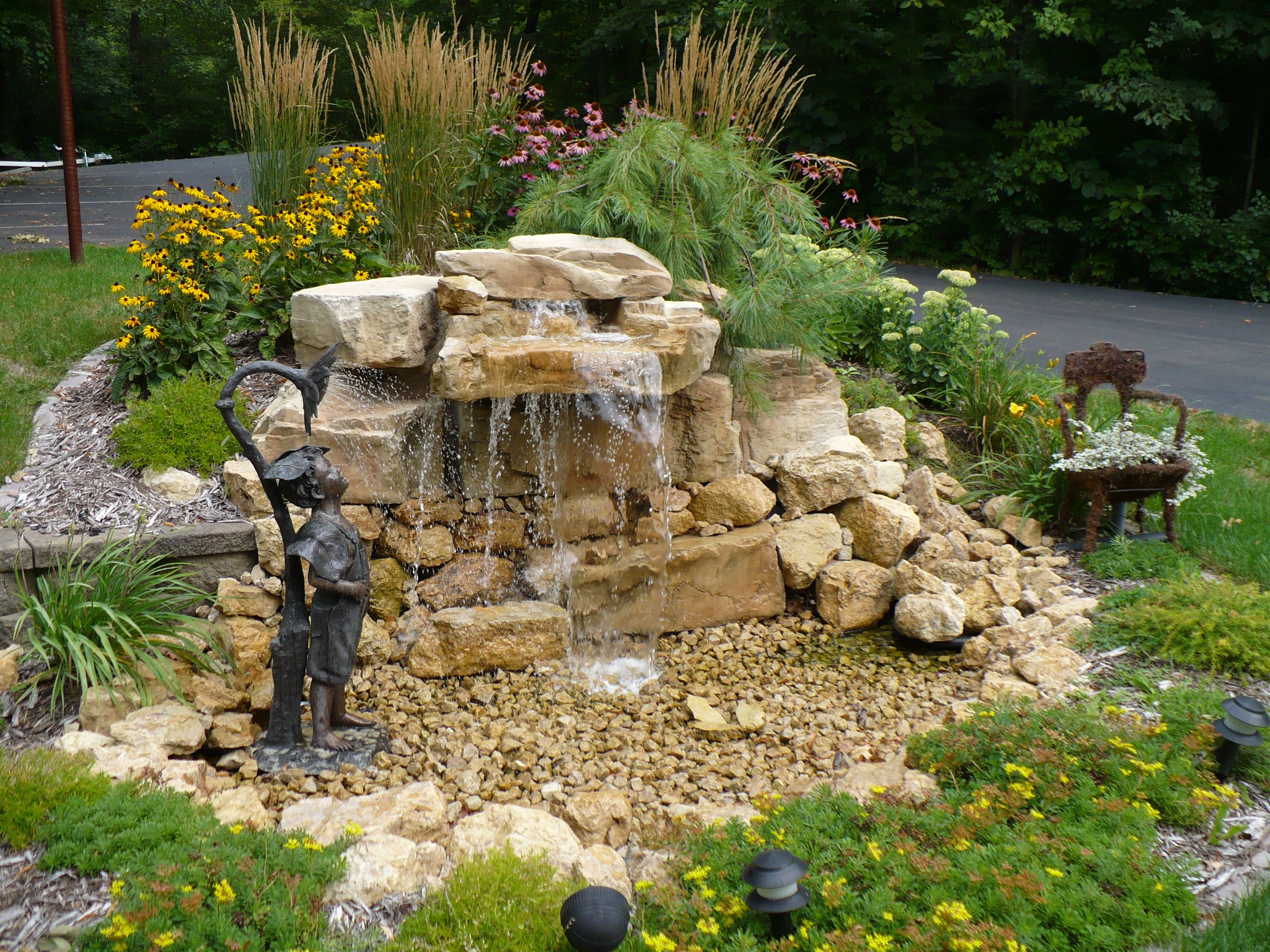 Small Pondless Backyard Water Feature In Hudson, Wi