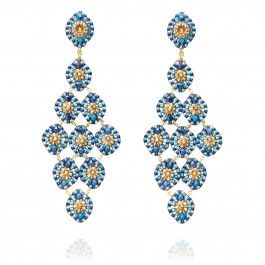 BY MIGUEL ASES  SEE DETAILS HERE: Peacock Chandelier Earrings