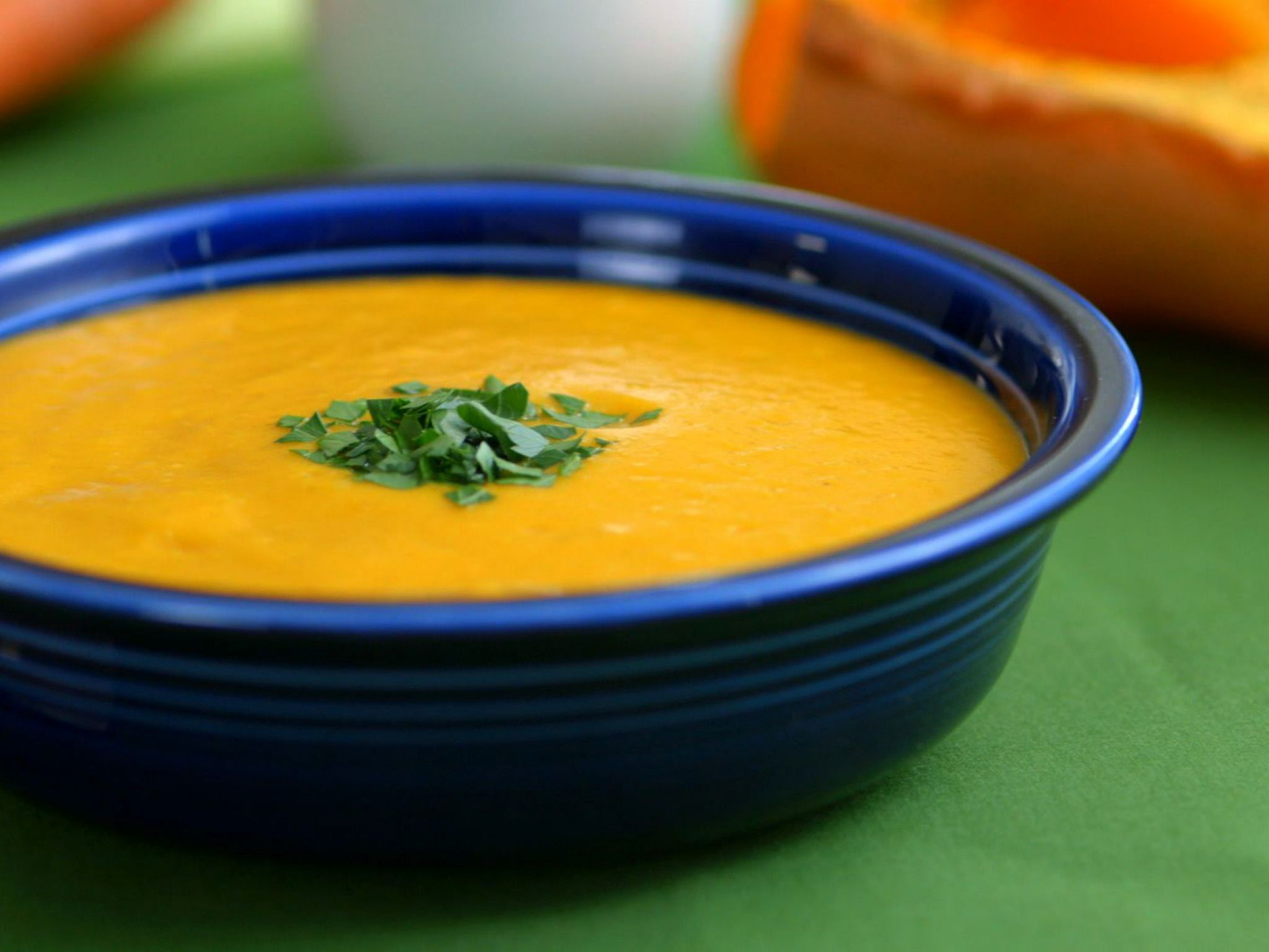 Coconut Curried Butternut Squash Soup Recipe Curried Butternut Squash Soup Food Network Recipes Food Processor Recipes