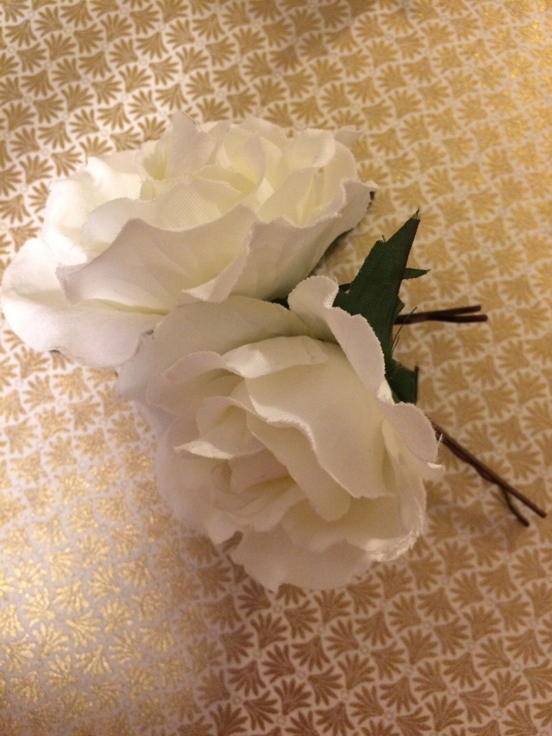 A personal favorite from my Etsy shop https://www.etsy.com/ca/listing/264928027/white-garden-rose-hair-pin