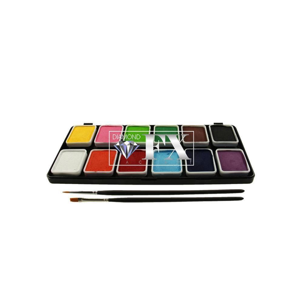Diamond Fx Face Paint Palette 12 Colors 6 Gm Paint Palette Face Painting Face Painting Designs