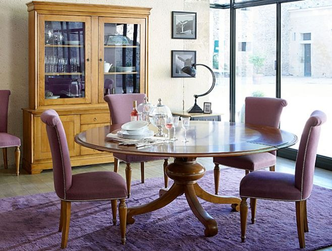 Louis Philippe Round Dining Table Table Salle A Manger Table A Manger Ronde Decoration Maison