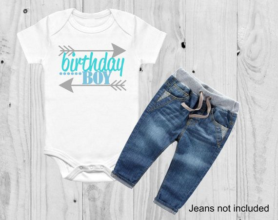 Boy Birthday Outfit First Shirt By SimplyChicCouture