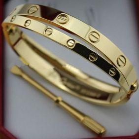 96af552a03a08 Fake Cartier Love Bracelet two pink gold diamonds band screwdriver ...