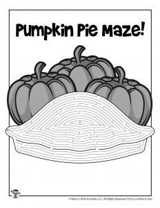 Pumpkin Pie Maze for Kids | Woo! Jr. Kids Activities