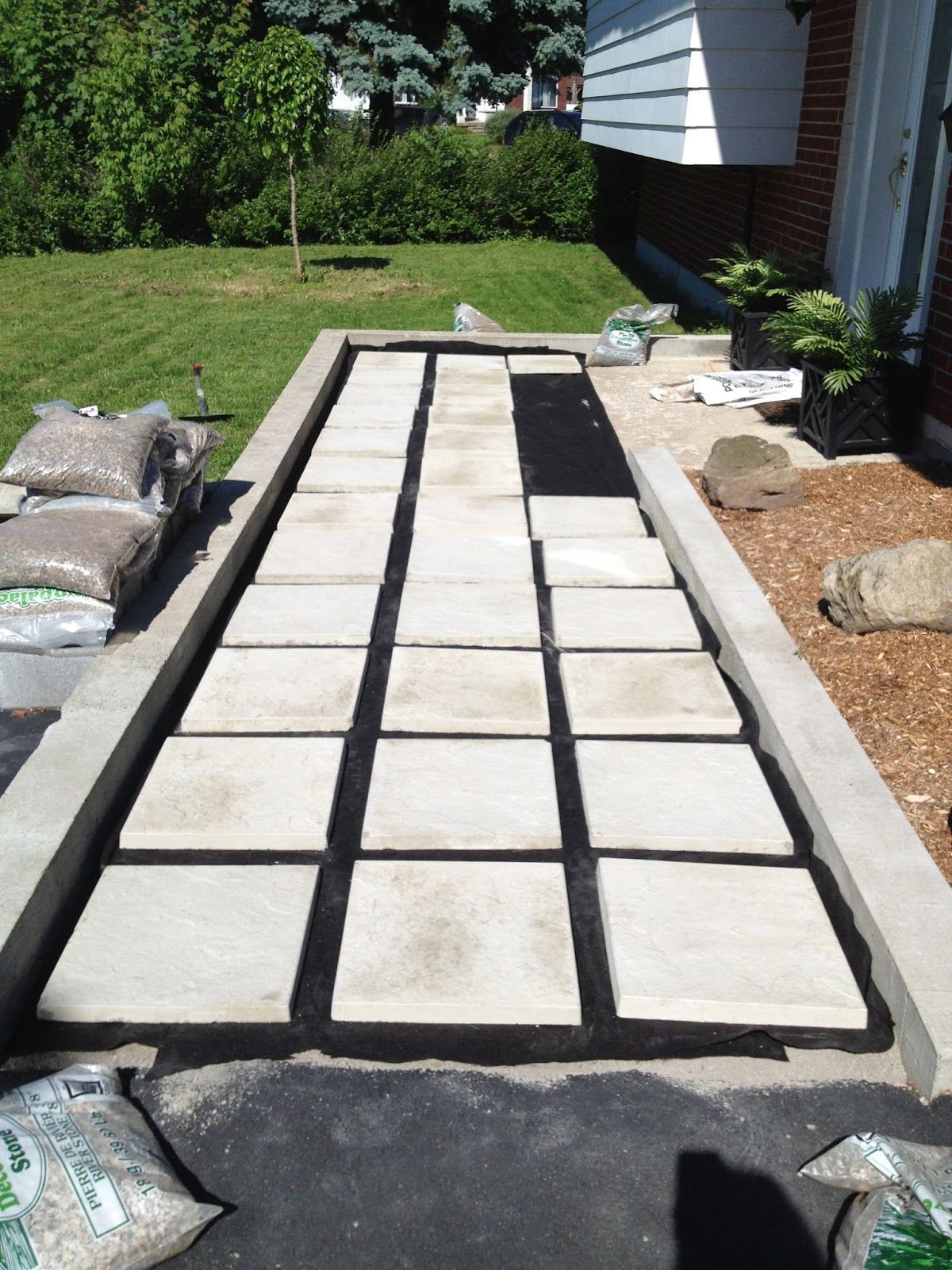 Our diy front path makeover on a budget zenshmen project for Home walkway ideas