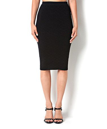 This Black Jacquard Pencil Skirt is perfect! #zulilyfinds