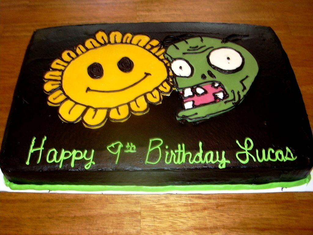 Plants Vs Zombies Birthday Cake Birthdays Pinterest Plants