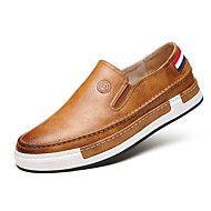 3ad30b915 Masculino sapatos Courino Primavera Outono Inverno Conforto Mocassins e  Slip-Ons Caminhada Para Casual Preto Cinzento Amarelo Marron