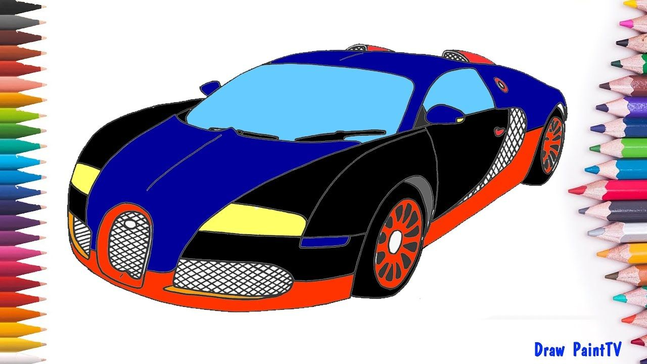 Bugatti Veyron Super Sport Car Coloring Page | Kids Paint Car Colors ...