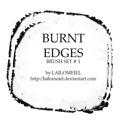 Burnt Edges Brushes By Lailomeiel On Deviantart In 2021 Photoshop Brushes Brush Photoshop Design