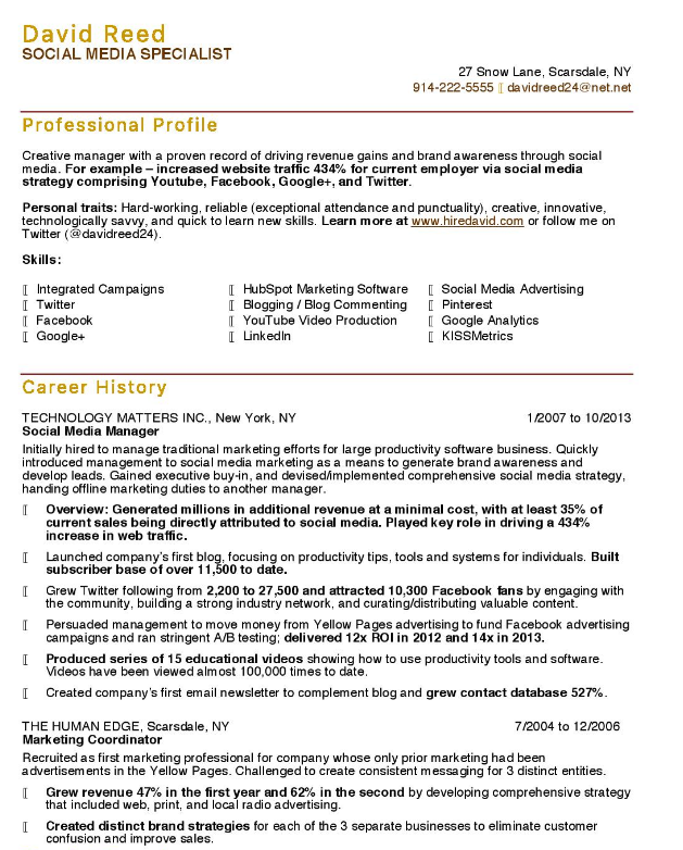 The 10 Best Digital Marketing Cv Resume Examples Project Manager Resume Manager Resume Resume