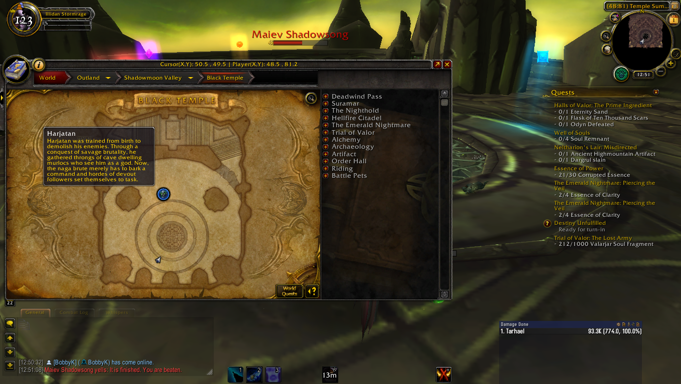 I Did The Illidan Scenario And A Tos Boss Showed Up On The Map