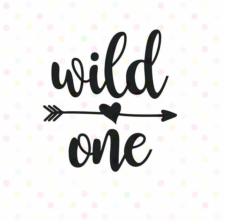 Cricut /& More Svg Cut files Arrow Heart SVG Digital Design First Birthday Cutting files for Silhouette Wild One SVG