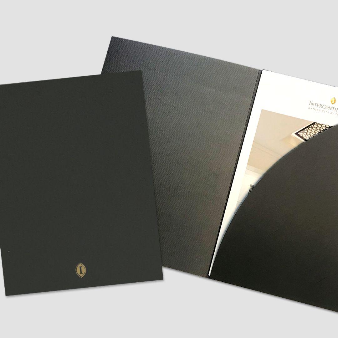Intercontinental pocket folder pocket folder design