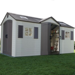 Lifetime 15ft X 8ft Double Entrance Shed In 2020 Shed Outdoor Storage Sheds Plastic Storage Sheds