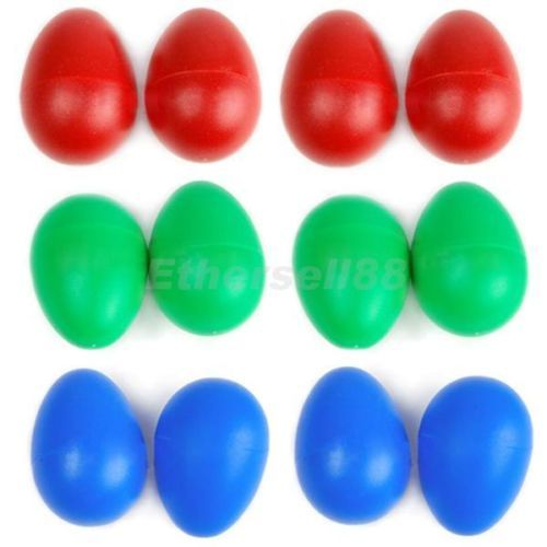 Plastic Percussion Musical Egg Maracas Shakers Children Kids Toys Fun Gift SP