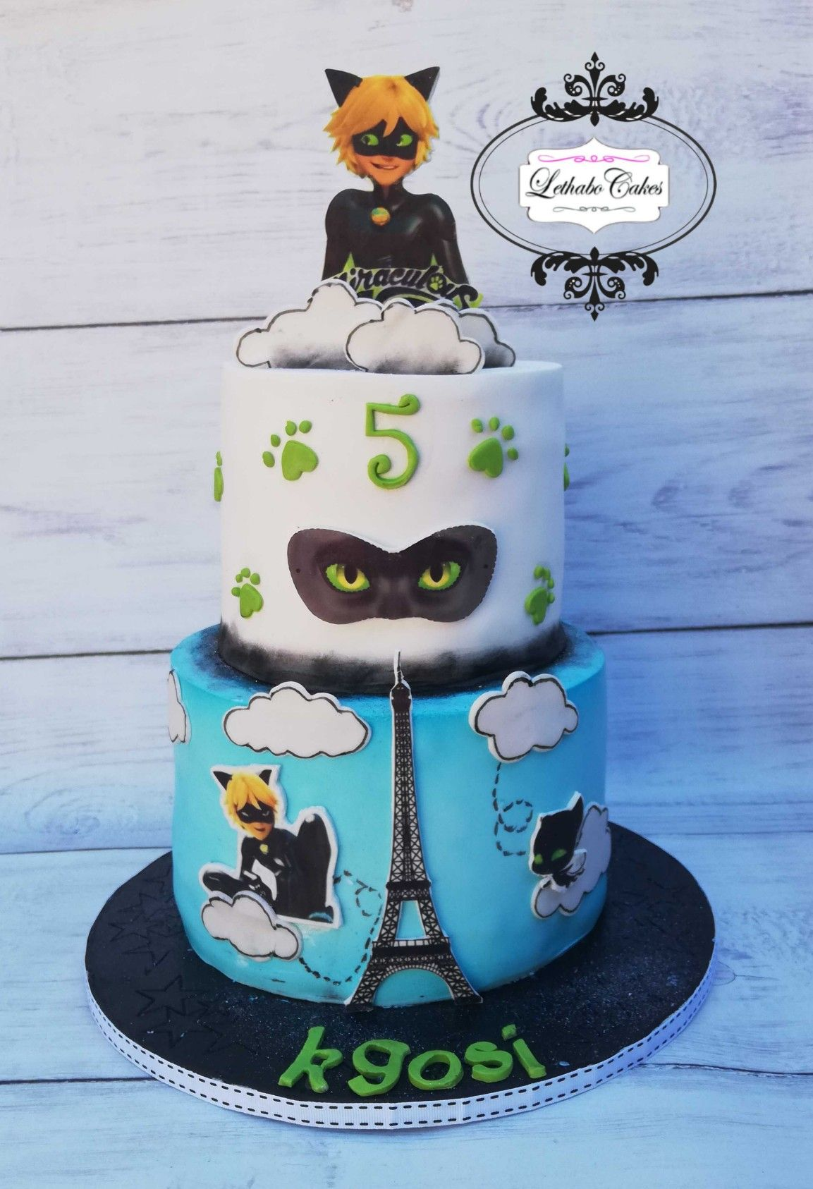Chat Noir From Miraculous Lady Bug Torte