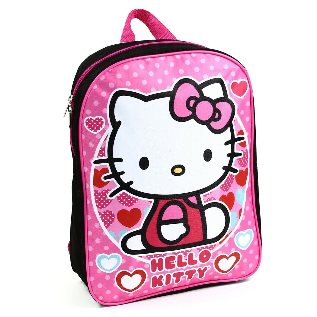 Hello Kitty Girls 16 Pink Purple School Backpack Book Bag